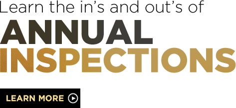 Learn the ins and outs of annual inspections